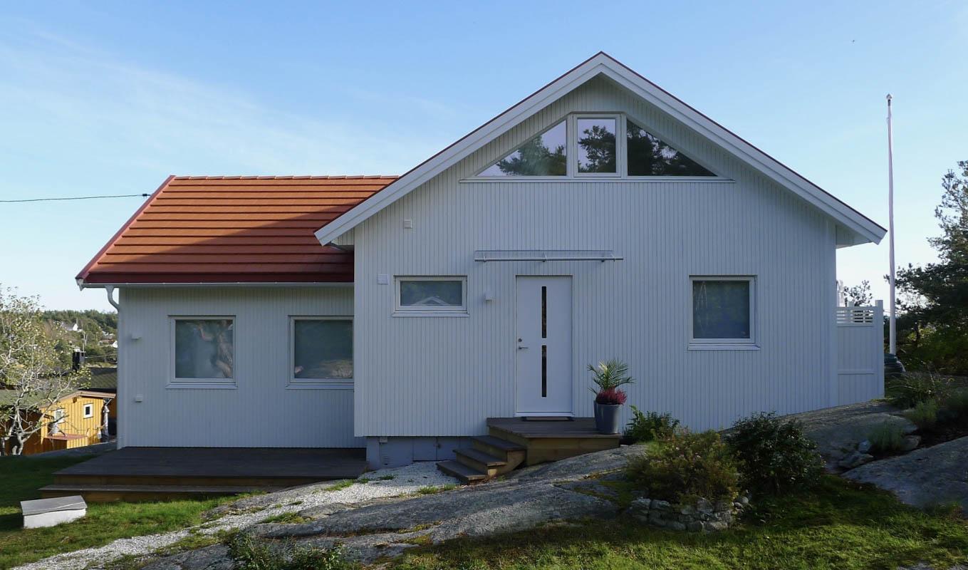 Hvit hytte